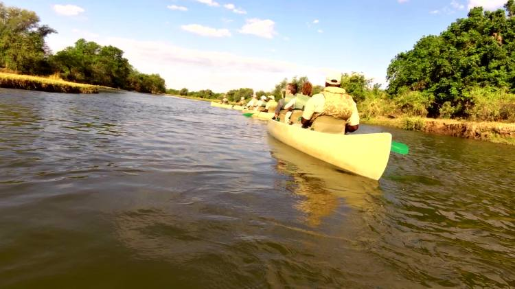 Leading a cnaoe trip through the Nkalangi Channel Sept 2014