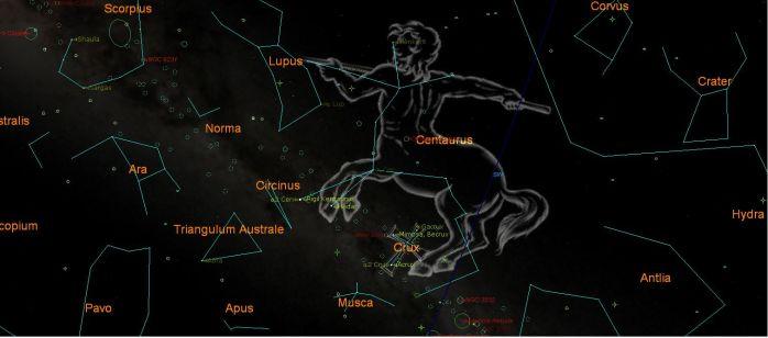 Southern Sky guide July 2014 ( Starry NIght Pro image )